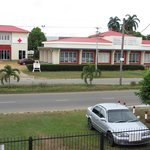 view roadside Guesthous Amice Paramaribo