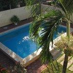 swimming pool from veranda Guesthous Amice Paramaribo