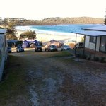 view overlooking merry beach