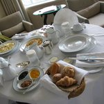 A great breakfast in our room