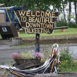 Welcome Sign is a great representation of the laid back feel of Talkeetna