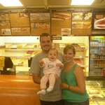 Our daughter's first visit to Dandee Donuts (X'mas 2012)