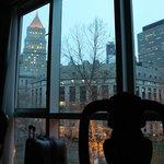 Vistas del City Hall desde la ventana del cuarto piso