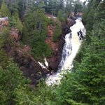 Big Manitou Falls. This is the easy walk.