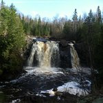 Little Manitou Falls. About 1.5 miles there, along river, rugged trail. Gorgeous scenery.
