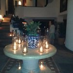 Candles everywhere at night. Peaceful elegance.