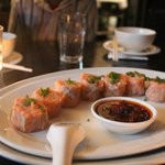 Steamed 'Mark Eather' Ocean trout Shumai with XO sauce