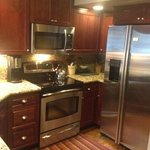 Unit 21 kitchen all stainless with granite counters.