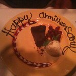 Flourless Chocolate Cake With Brandied Sour Cherries And Homemade Vanilla Ice