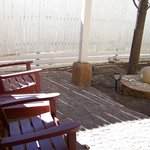 our courtyard with water feature to enjoy the turquoise sky of Santa Fe