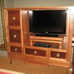 Flat-screen TV and console