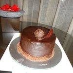 A complimentary birthday cake