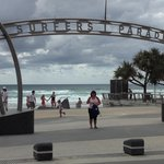 Surfers Paradise Beach entrance
