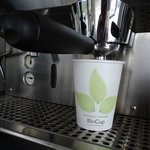 we proudly use bio degradable cups