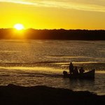 Sonnenuntergang in der Lagune im DeHoop Marine Reserve