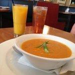 Sweet Potato and Pumpkin soup! Gluten free!! Amazing!!