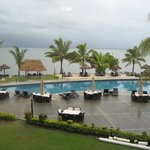 Unobstructed view of pool and beach from the balcony