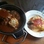 Lamb potjie with dumpling.