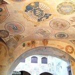 Soffitto decorato di Palazzo Pretorio
