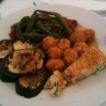 repas diététique de midi