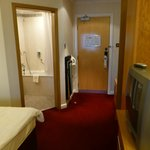 Entrance with trouser press....