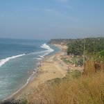 Nice view from the top of Varkala cliff