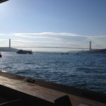 Amazing views from the terrace on the Bosporus