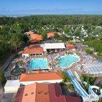 Vue aérienne du camping Mayotte Vacances