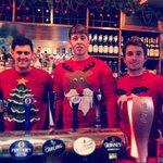 Some of the bar staff when we visited at christmas