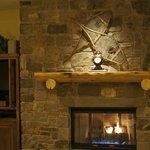 Warm gas fired fireplace