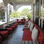 Porch of Virginia Hotel, perfect for breakfast or evening drinks