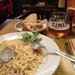 good spaghetti and beer!