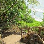 Treppen zum Strand am Südkliff