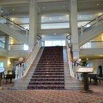 Le hall d'entrée de l'hôtel