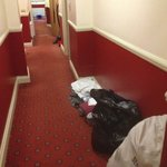 Housekeepers clutter the halls