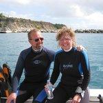 Peter en Ria bedanken Scuba dive centre voor een mooie week !!!