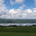 Clouds reflected on Seneca Lake