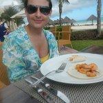 deliciosas tortillas de camarón con inmejorable vista