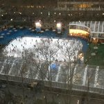 View of Bryant Park from Room 1707 Bedroom