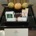 Complimentary Fruits, Coffee & Tea