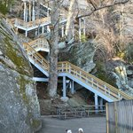 January 2013: Tilly's getting ready to climb the 500+ steps to the top