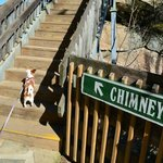 January 2013: Almost there!!! Tilly climbed all the steps without stopping.