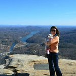 January 2013: At the top of the Chimney Rock, Amazing view of Lake Lure