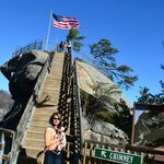 January 2013: 500 steps later... at the top of the Chimney Rock