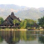 Restaurant overlooking lake
