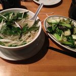 Pho Ga with Bok Choy with Garlic, Kicked that Cold!