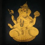 Ganesha on the pool wall