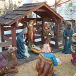 Nativity scene at the entrance.