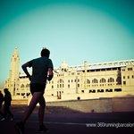 Runner at Montjuic Olimpic Stadium
