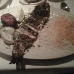 I had the grilled fish with white rice